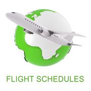 Flight Schedules Indicates Scheduled Airplane And Appointments 3d Rendering - stock illustration