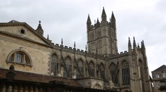 Bath Abbey - establishing shot Stock Footage