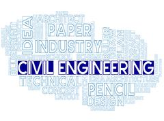 Civil Engineering Meaning Worker Development And Design - stock illustration