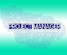 Project Manager Representing Authority Supervisor And Managers Stock Illustration