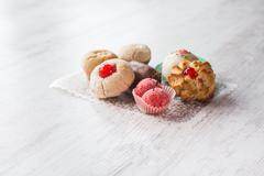 Italian almond pastries Stock Photos