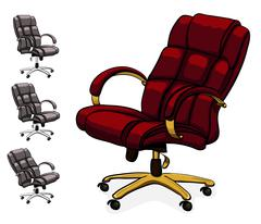 Office executive leather desk chair. Stock Illustration