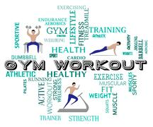 Gym Workout Representing Physical Activity And Fitness Piirros