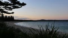 Australia Murramarang beach on early morning Stock Footage