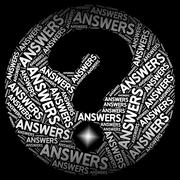 Answers Question Mark Indicating Faqs Problem And Puzzled Stock Illustration