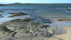 Australia Murramarang rock platform Stock Footage
