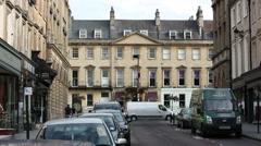 City of Bath: city centre architecture Stock Footage