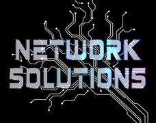 Network Solutions Meaning Global Communications And Solve Stock Illustration