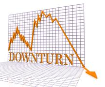 Downturn Graph Represents Market Chart And Loss 3d Rendering Stock Illustration