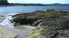 Australia Murramarang rocks at low tide Stock Footage