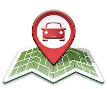 Car Map Meaning Automotive Transport And Drive - stock illustration