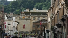 Typical English City: the city of Bath Stock Footage