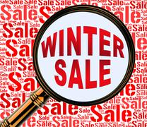 Winter Sale Representing Promo Retail And Shopping Stock Illustration