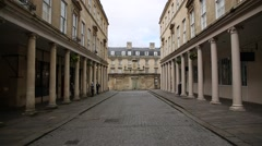 City of Bath - historical city centre Stock Footage