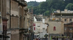 Big City in England - the city of Bath Stock Footage