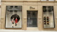 DIOR luxury store - stock footage