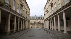 Bath City centre - tilt Stock Footage