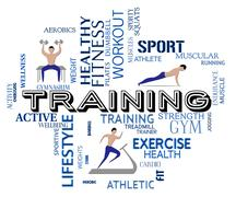 Fitness Training Meaning Work Out And Healthy Stock Illustration