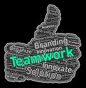Teamwork Thumbs Up Meaning Unit Organization And Unity Stock Illustration