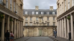 Historical English Architecture: City of Bath Stock Footage