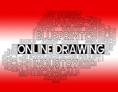 Online Drawing Indicating Websites Design And Draft Stock Illustration