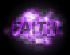 Faith Word Meaning Holy Religion And Christian - stock illustration