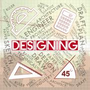 Designing Drawing Meaning Graphic Sketching And Visualization Stock Illustration