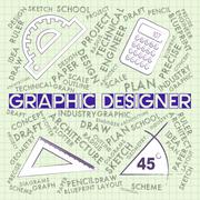 Graphic Designer Meaning Employ Employment And Vocational Stock Illustration