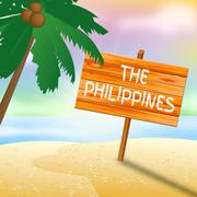 Philippines Holiday Means Go On Leave And Beaches - stock illustration