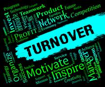 Turnover Words Representing Gross Sales And Revenue Stock Illustration