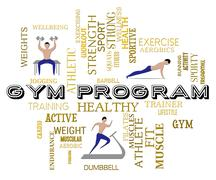 Gym Program Indicating Physical Activity And Scheduling Stock Illustration