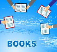 Learning Books Meaning Literature School And Learned Stock Illustration