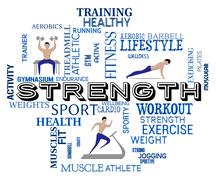 Fitness Strength Showing Work Out And Aerobic Stock Illustration