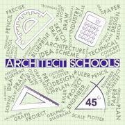 Architect Schools Showing Occupations Architecture And Designer Stock Illustration