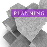Planning Blocks Shows Book Aspirations And Goals 3d Rendering Stock Illustration
