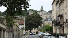 City of Bath: typical English Houses Stock Footage