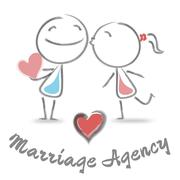 Marriage Agency Showing Find Love And Bureau - stock illustration