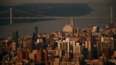 NYC CITY FROM UP HIGH ON ROOFTOP Stock Footage