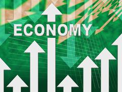 Economy Graph Meaning Macro Economics And Economical Stock Illustration