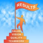 Results Flag Indicating Achievement Accomplish And Improvement - stock illustration