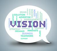 Vision Bubble Indicating Goal Objective And Aspire - stock illustration