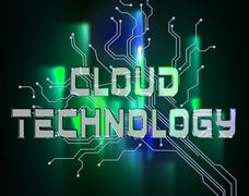Cloud Technology Indicating Online Electronics And Data Stock Illustration