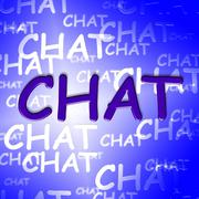 Chat Words Indicating Telephone Messenger And Chatting - stock illustration