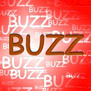 Buzz Words Meaning Public Relations And Aware Stock Illustration