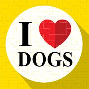 Love Dogs Represents Terrific Doggy And Nice Puppy Stock Illustration