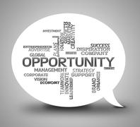 Opportunity Bubble Meaning Lucky Chance And Message Stock Illustration