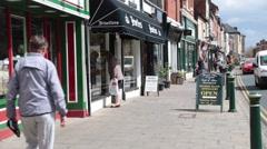 Long Street, Atherstone, Warwickshire, UK Stock Footage