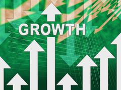 Growth Graph Meaning Trend Gain And Graphic Stock Illustration
