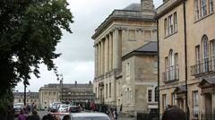 Typical English houses in the city of Bath Stock Footage