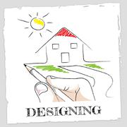 Draw Designing Indicating Visualization Graphic And Creative Stock Illustration